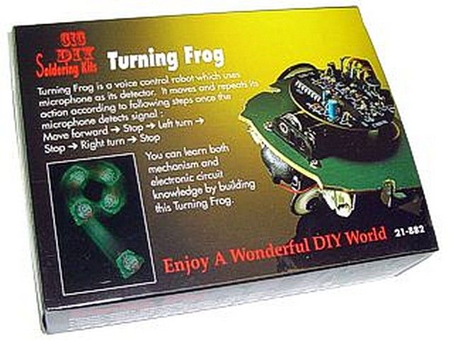 MINI KIT ROBOT TURNING FROG. Clic para ampliar